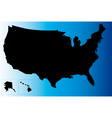 Black USA map vector image vector image