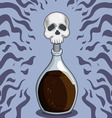 bottle death poison vector image