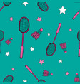 bright seamless pattern with sports objects vector image