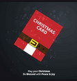 christmas card with dark background and santa vector image vector image