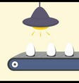 Conveyor with egg vector | Price: 1 Credit (USD $1)