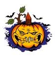 Danger halloween pumpkin vector image