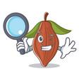 detective cacao bean character cartoon vector image vector image