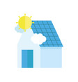ecology renewable environment solar panel house vector image