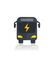 electric bus icon modern city transport vector image