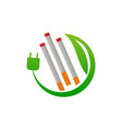 electrical cigarette for healthy vector image vector image