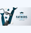 father s day greetings card with ties vector image