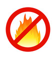 fire flammable symbol hazzard flame sign safety vector image