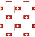 flag of switzerland pattern seamless vector image vector image