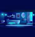 futuristic bathroom interior furniture and stuff vector image vector image