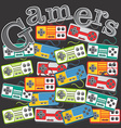 gaming theme vector image