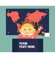 Geography teacher vector image vector image