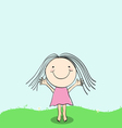 girl smile color 1 vector image