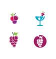 grapes logo template icon vector image