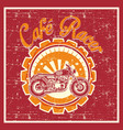 grunge style cafe racer badge vector image vector image