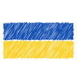 hand drawn national flag of ukraine isolated on a vector image
