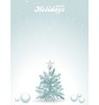 Happy holidays blue background with Christmas tree vector image vector image
