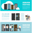 hardware server system and network administration vector image vector image