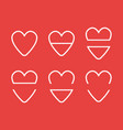 icon set hearts flat color style vector image vector image