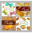 Italian Pasta Label Set vector image vector image
