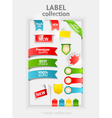 Labels collection vector image vector image