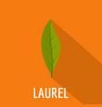 laurel leaf icon flat style vector image