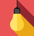 Lightbulb light and shadow vector image vector image