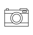 line digital camera technology to focus equipment vector image vector image