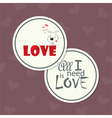 love card with dog vector image vector image