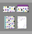 memphis notebooks and envelopes mock up vector image