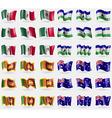 Mexico Lesothe Sri Lanka Australia Set of 36 flags vector image vector image