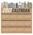 Modern Skyscrapers 2017 Printable Calendar vector image vector image
