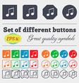 musical note music ringtone icon sign Big set of vector image
