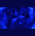 navy blue low poly background abstract crystal vector image vector image