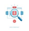 Online storefront add to bag web shop internet vector image