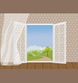 open doors on backdrop of the natural landscape vector image