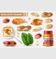 peanut butter transparent set vector image vector image