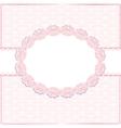 Pink floral frame vector image vector image