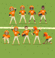 professional american football team players in vector image