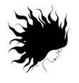 profile silhouette of girl vector image vector image