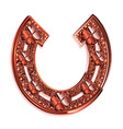 Red horseshoe on a white background vector image