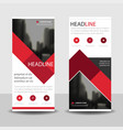 red label roll up business brochure flyer banner vector image vector image