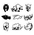 Rhinoceros Symbol vector image vector image