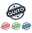 Round Quito city stamp set vector image vector image