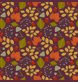seamless pattern with autumn maple leaves vector image vector image