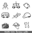 Services sector icons vector image vector image