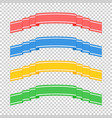 set of colored isolated banner ribbons on a vector image vector image