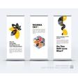 set of modern roll Up Banner stand design vector image vector image