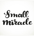 small miracle calligraphic inscription on a white vector image vector image