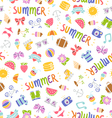Summer doodle pattern vector image vector image